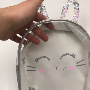 Justice Accessories - Justice Sequin Ears Clear Front Backpack